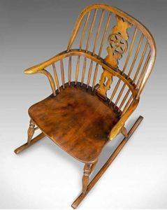 silla mecedora antigua