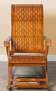 silla mecedora de madera antigua